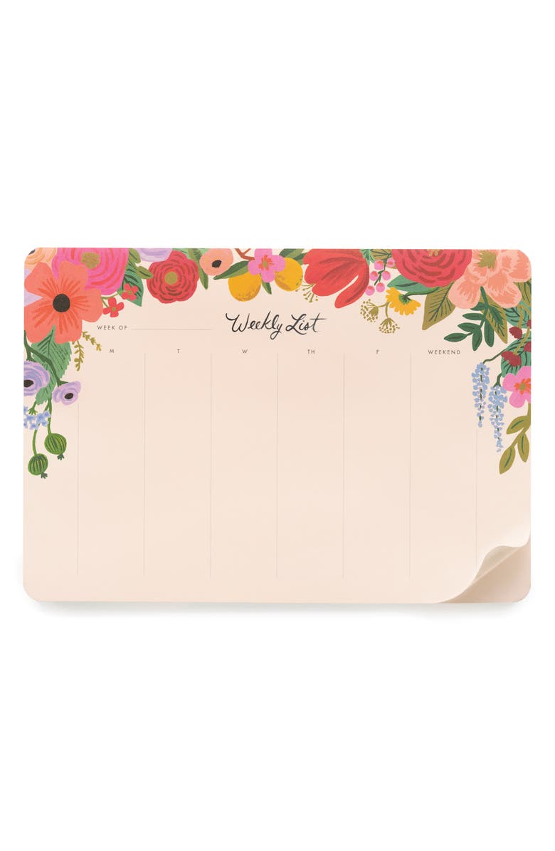 RIFLE PAPER CO. Garden Party Weekly Desk Pad, Main, color, 650