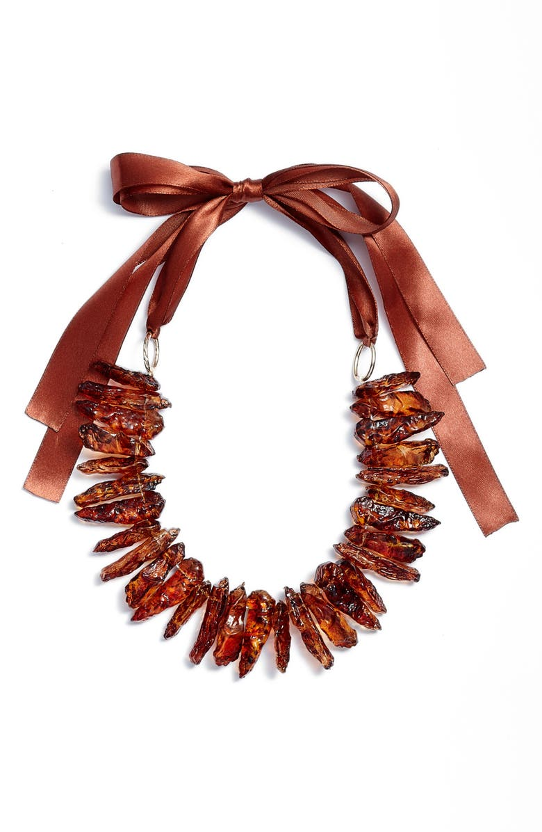 KNOTTY Statement Collar Necklace, Main, color, CINNAMON