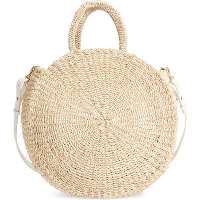 Clare V. Alice Woven Sisal Straw Bag - Ivory