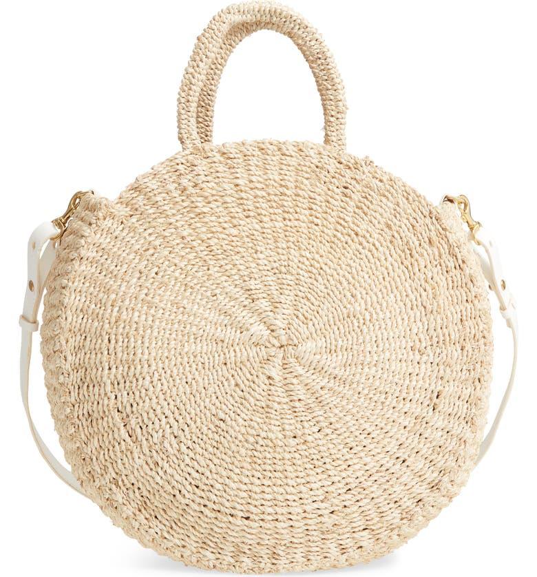 CLARE V. Alice Woven Sisal Straw Bag, Main, color, 901