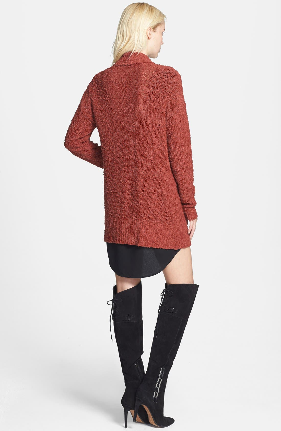 ,                             Textured Open Front Cardigan,                             Alternate thumbnail 12, color,                             210