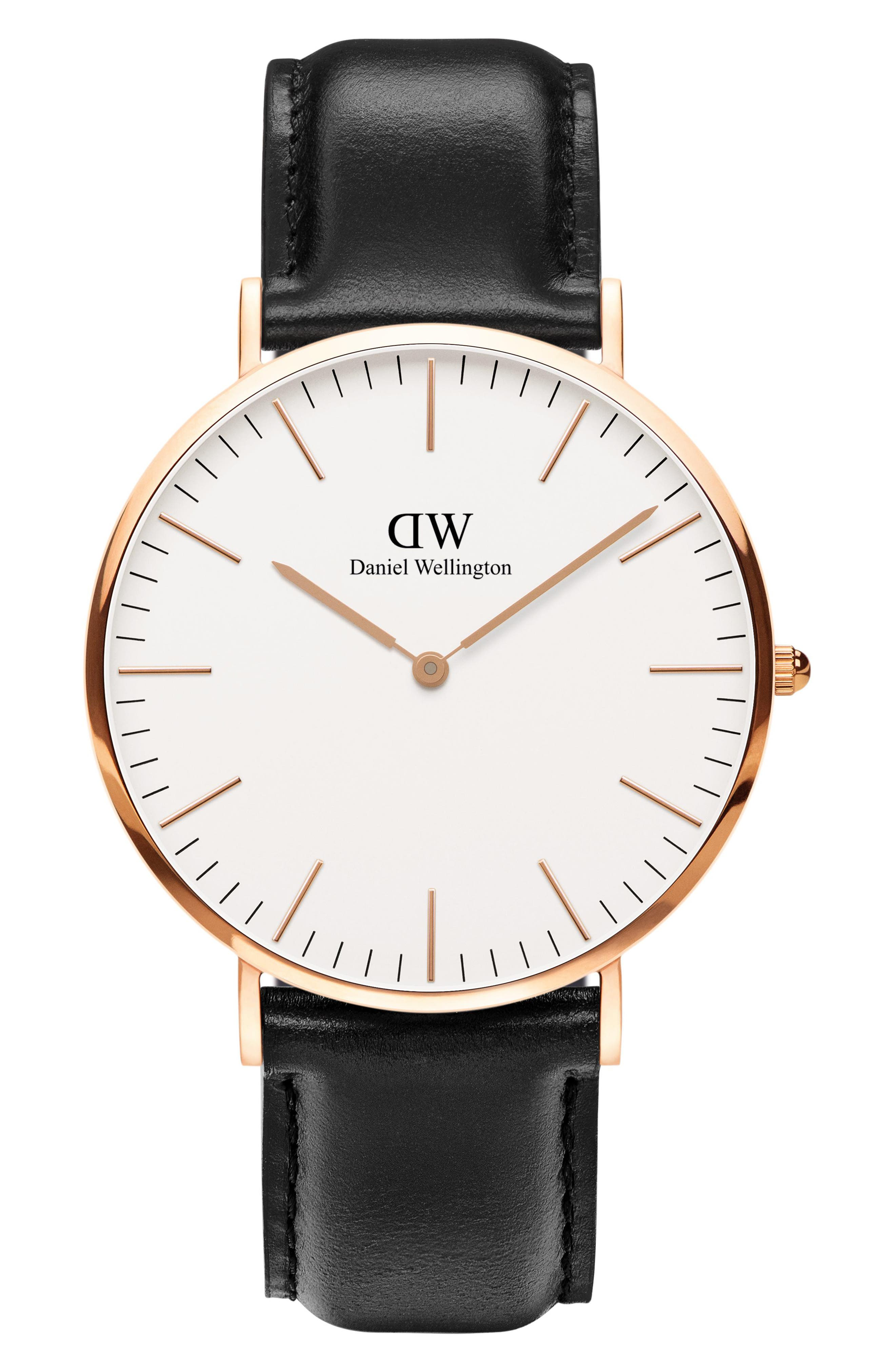 'Classic Sheffield' Leather Strap Watch