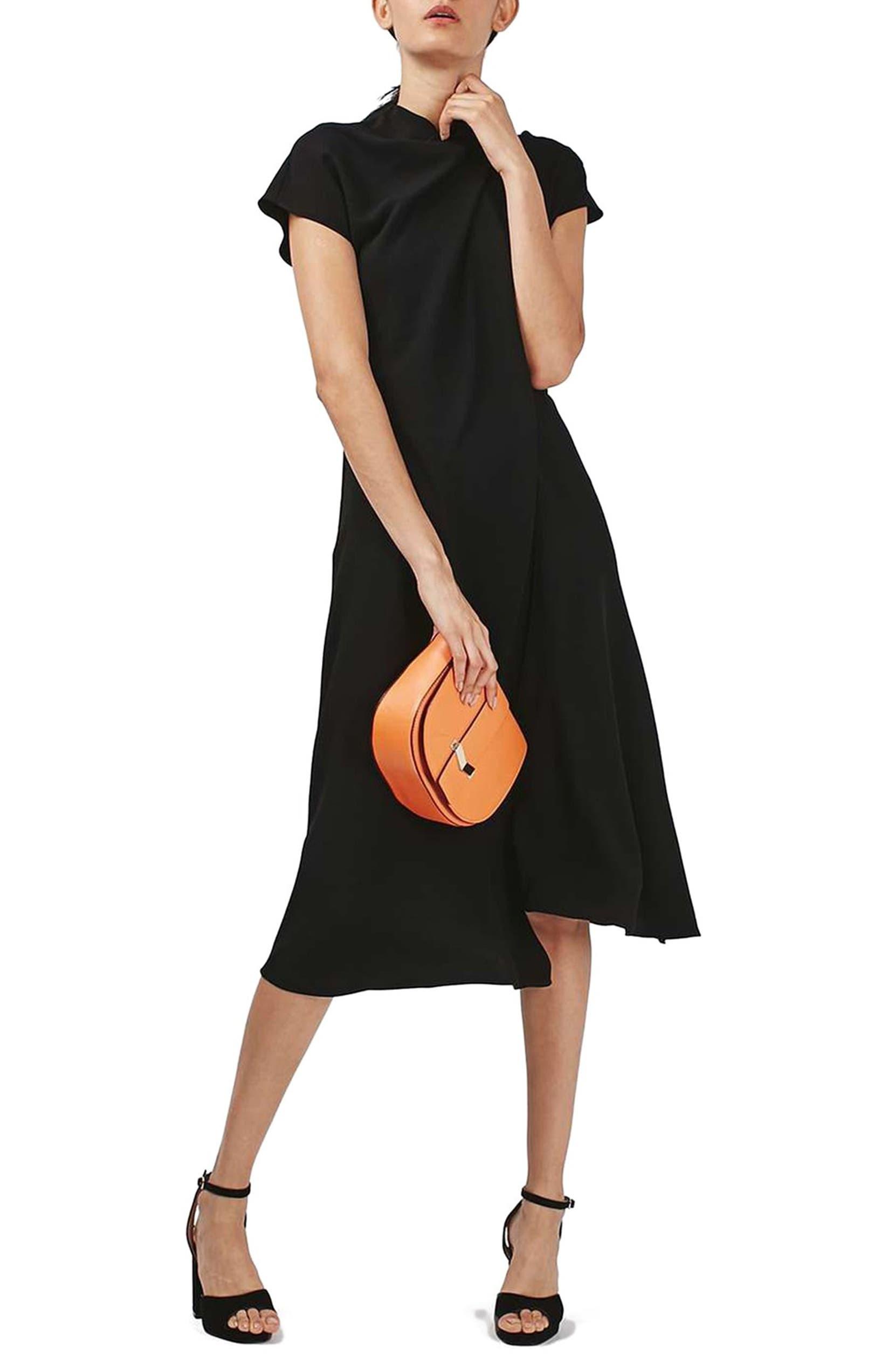 190f9913447cbf Topshop Origami Drape Neck Midi Dress | Nordstrom
