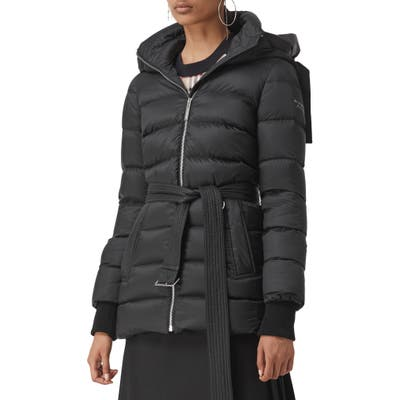 Burberry Limehouse Quilted Down Puffer Coat, Black