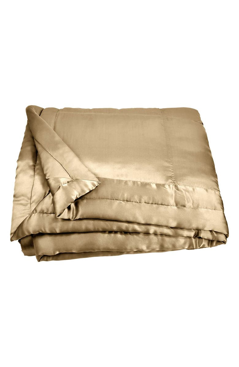 DONNA KARAN NEW YORK Reflection Quilt, Main, color, GOLD DUST