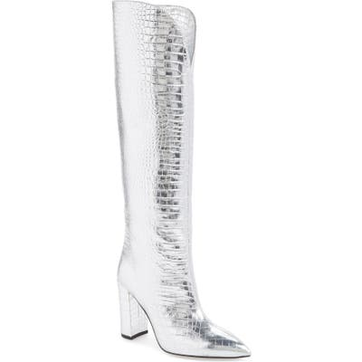 Paris Texas Over The Knee Boot, Metallic