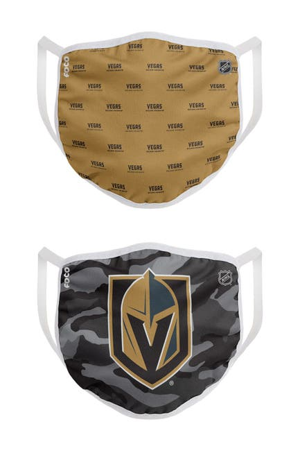 Image of FOCO NHL Vegas Golden Knights Clutch Printed Face Cover - Pack of 2