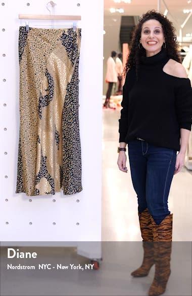 Parker Leopard Print Silk Maxi Skirt, sales video thumbnail
