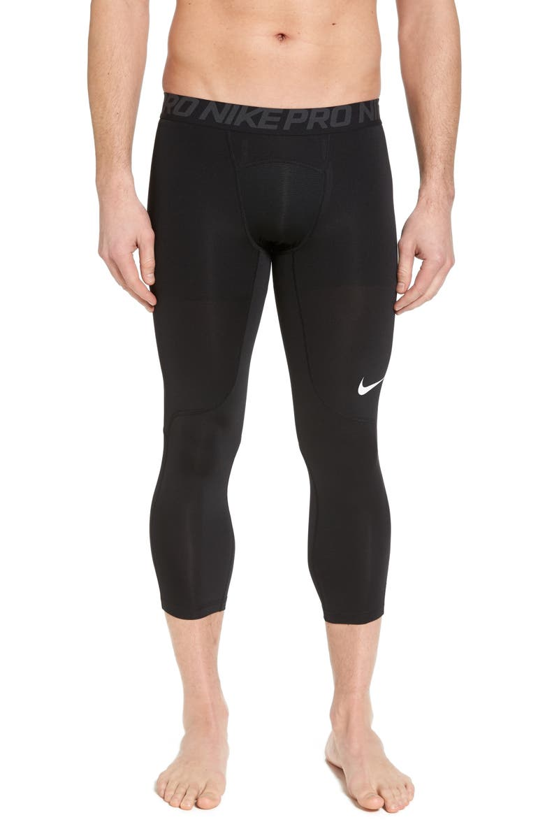 NIKE Pro Three Quarter Training Tights, Main, color, 010