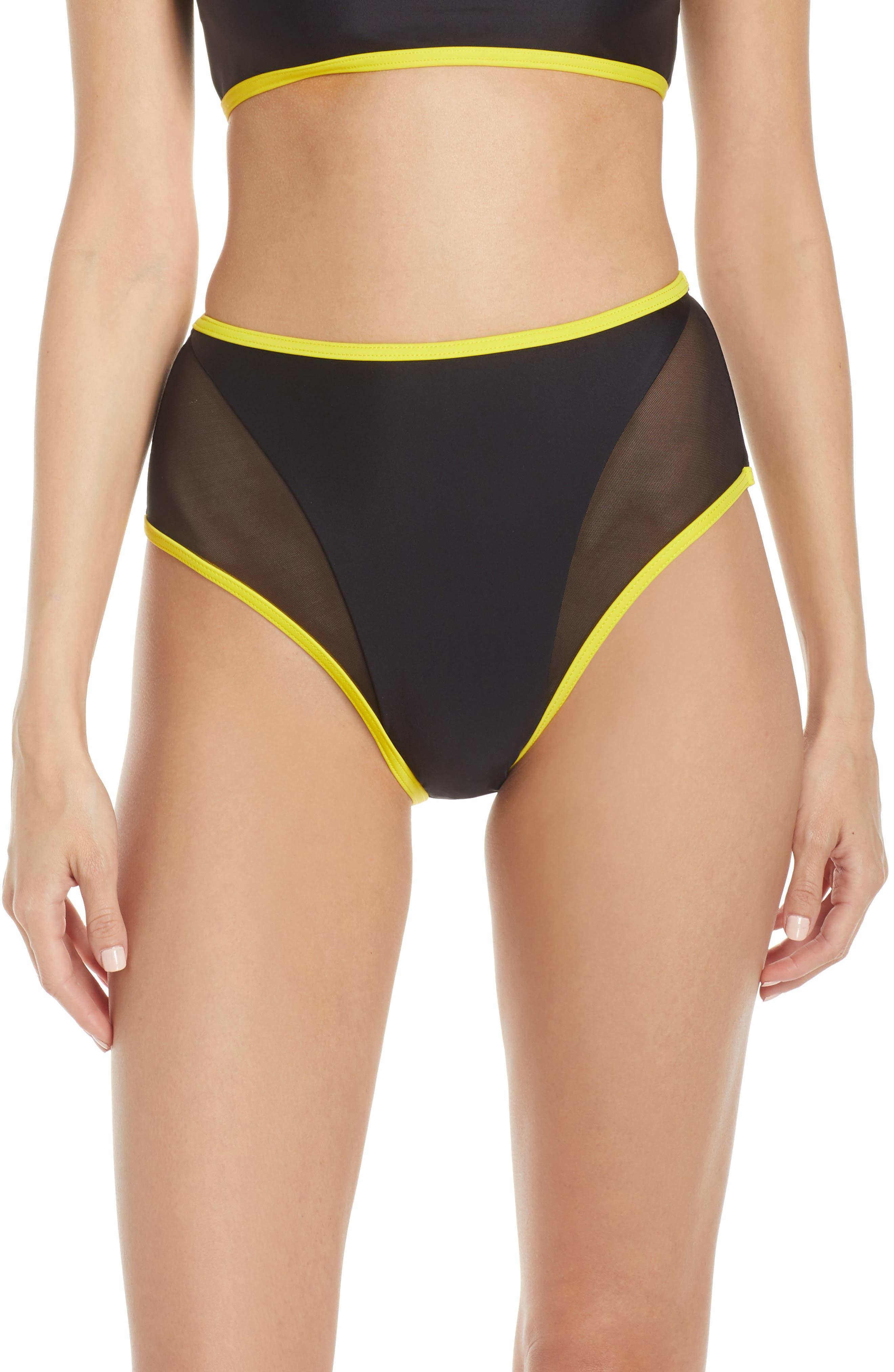 Chromat High Waist Bikini Bottoms, Black