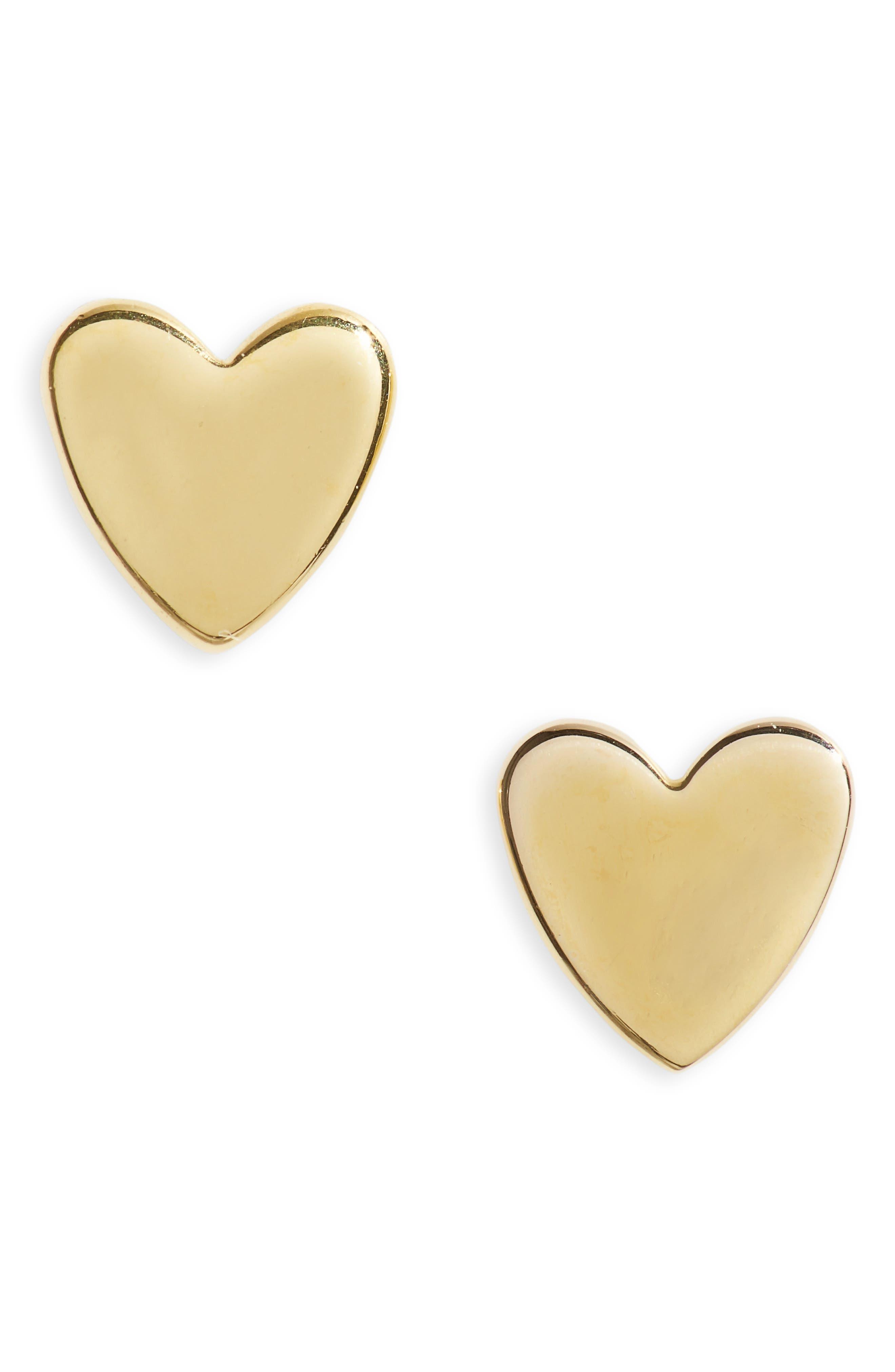 Vermeil Heart Stud Earrings
