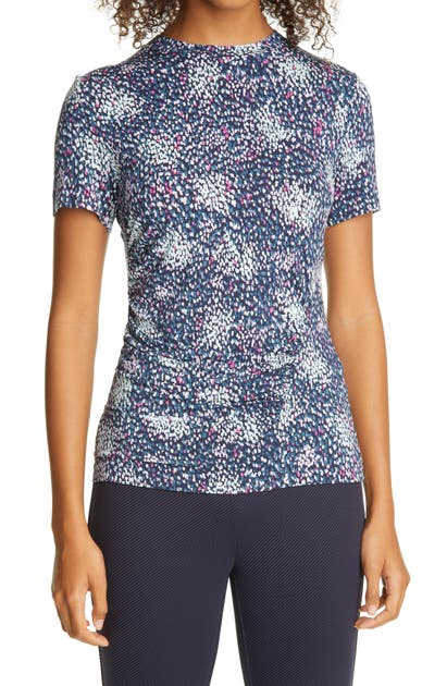 Hugo Boss ENICI CONFETTI PRINT RUCHED JERSEY TOP