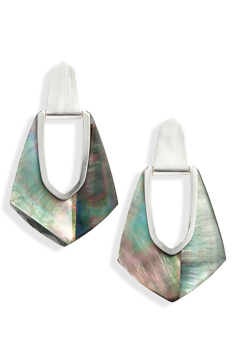 KENDRA SCOTT Kensley Drop Earrings, Main, color, 001