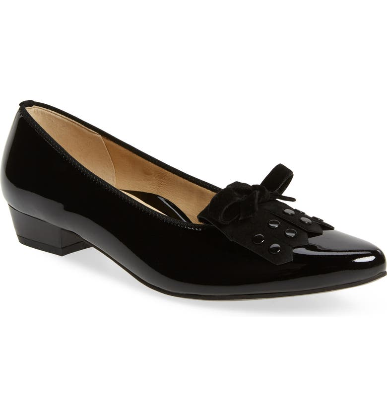 ARA Polly Pump, Main, color, BLACK PATENT LEATHER