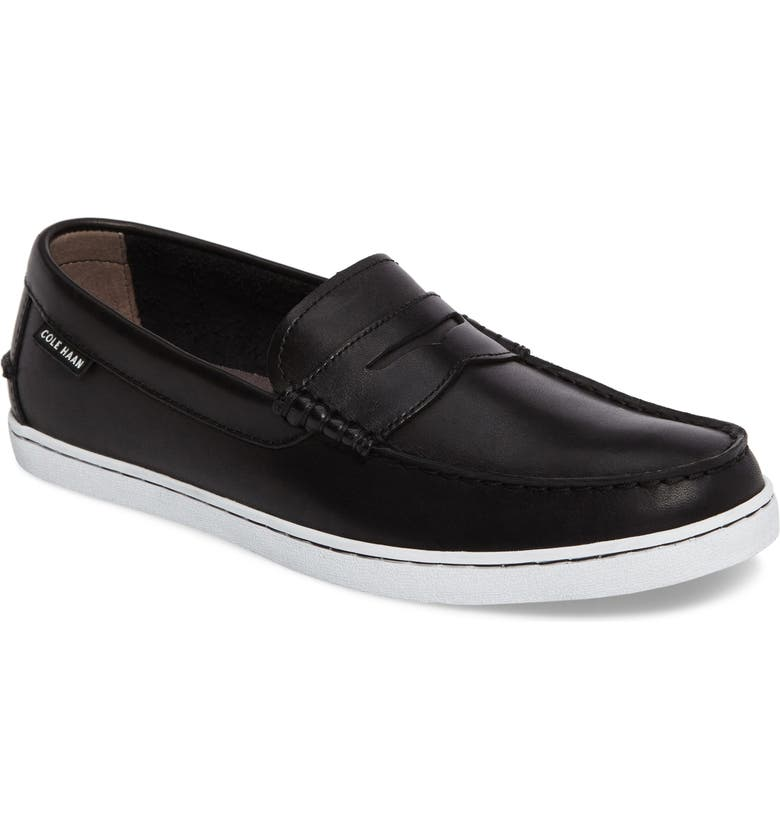 COLE HAAN Pinch Penny Loafer, Main, color, BLACK LEATHER