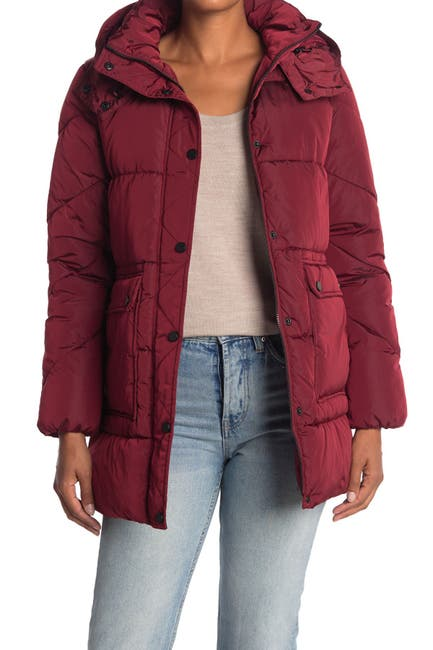 Image of Lucky Brand Missy Hooded Puffer Jacket