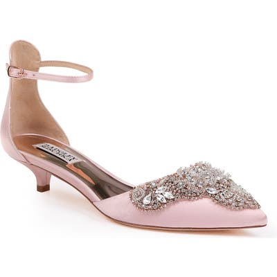 Badgley Mischka Fiana Ankle Strap Pump, Pink