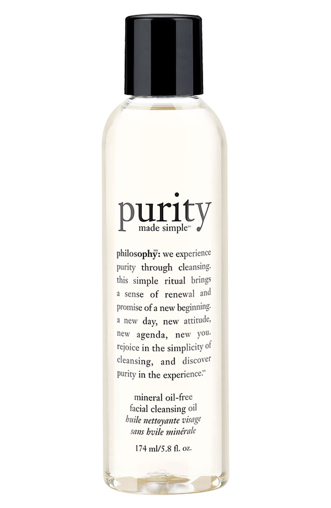 ,                             'purity made simple' facial cleansing oil,                             Main thumbnail 1, color,                             000