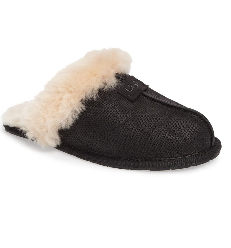UGG<SUP>®</SUP> Scuffette II Snake Embossed Slipper, Main, color, 001