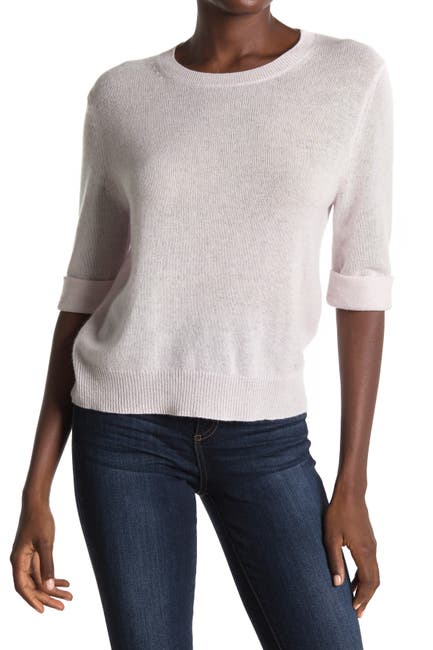 Image of 360 Cashmere Moselle Elbow Sleeve Cashmere Sweater Top