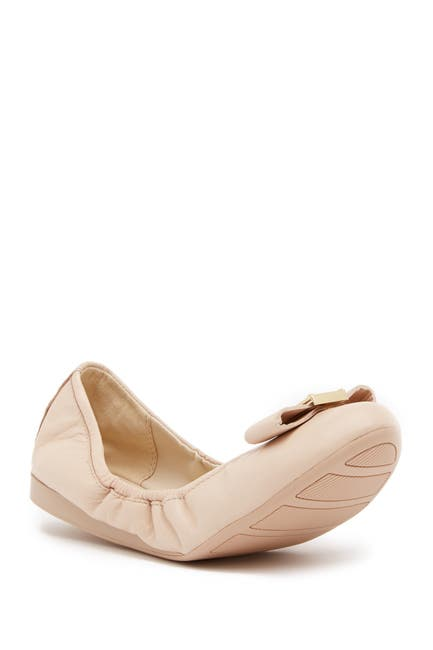 Image of Cole Haan Emory Bow Leather Ballet II Flat
