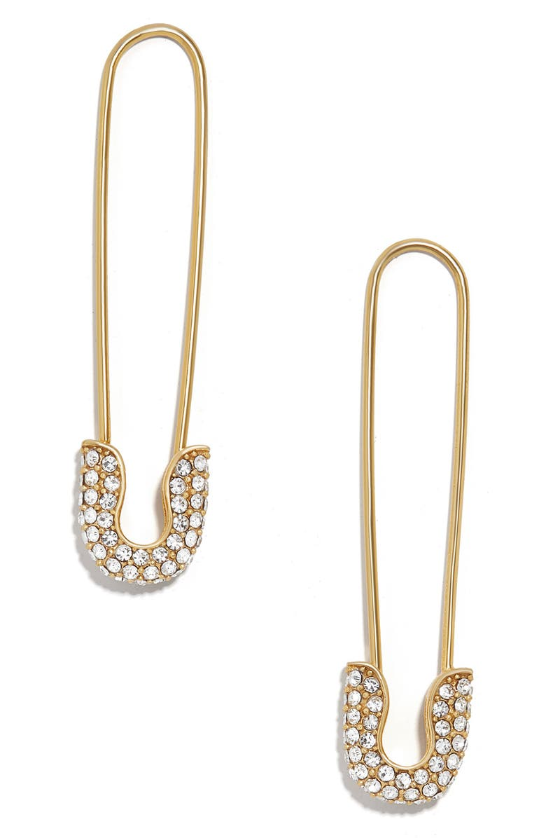 BAUBLEBAR Safety Pin Earrings, Main, color, GOLD