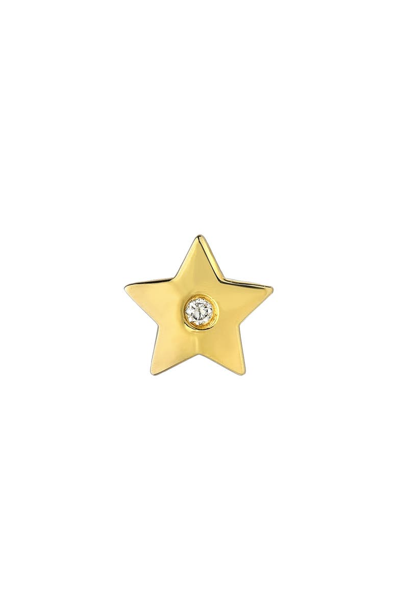 MINI MINI JEWELS Forever Collection - Star Diamond Stud Earring, Main, color, YELLOW GOLD