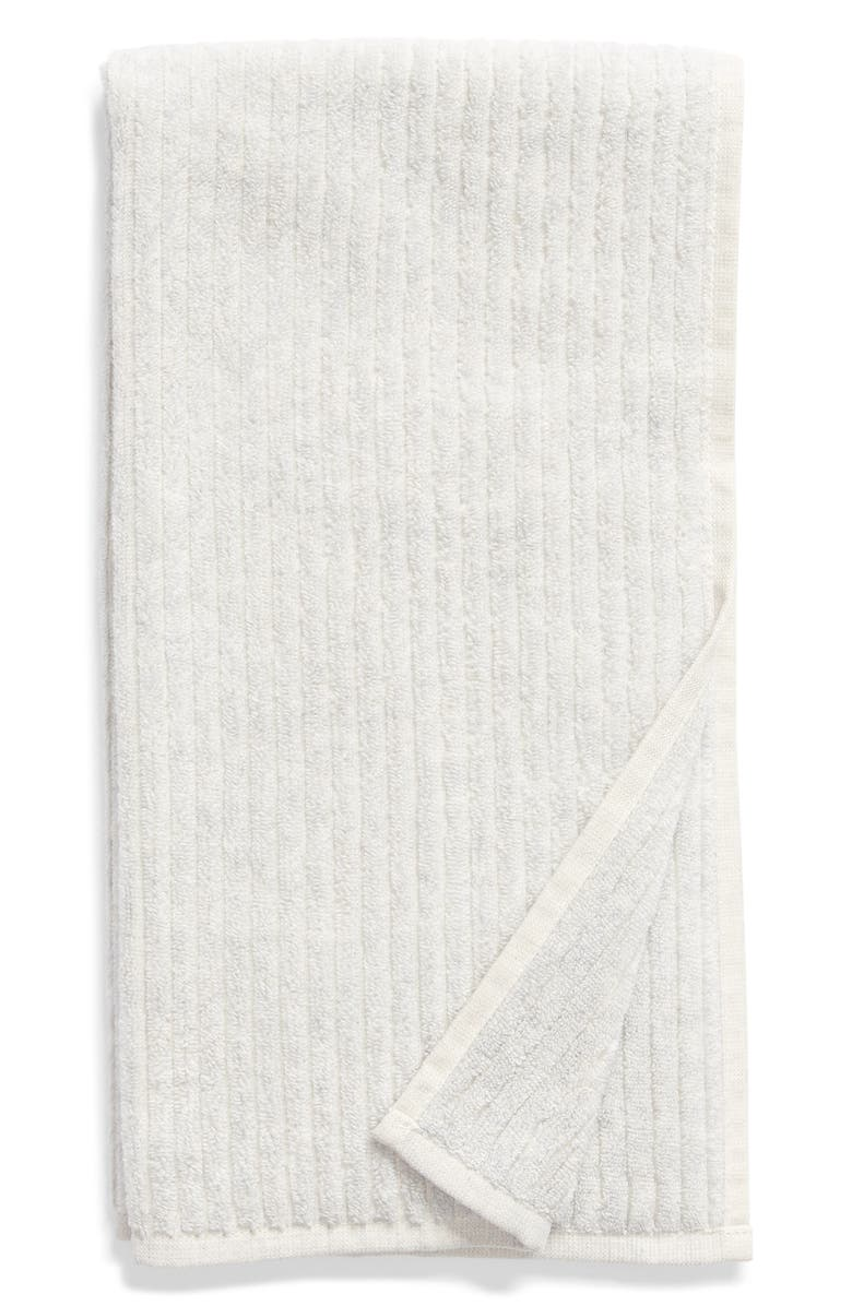 NORDSTROM Rib Organic Hydrocotton Hand Towel, Main, color, GREY VAPOR