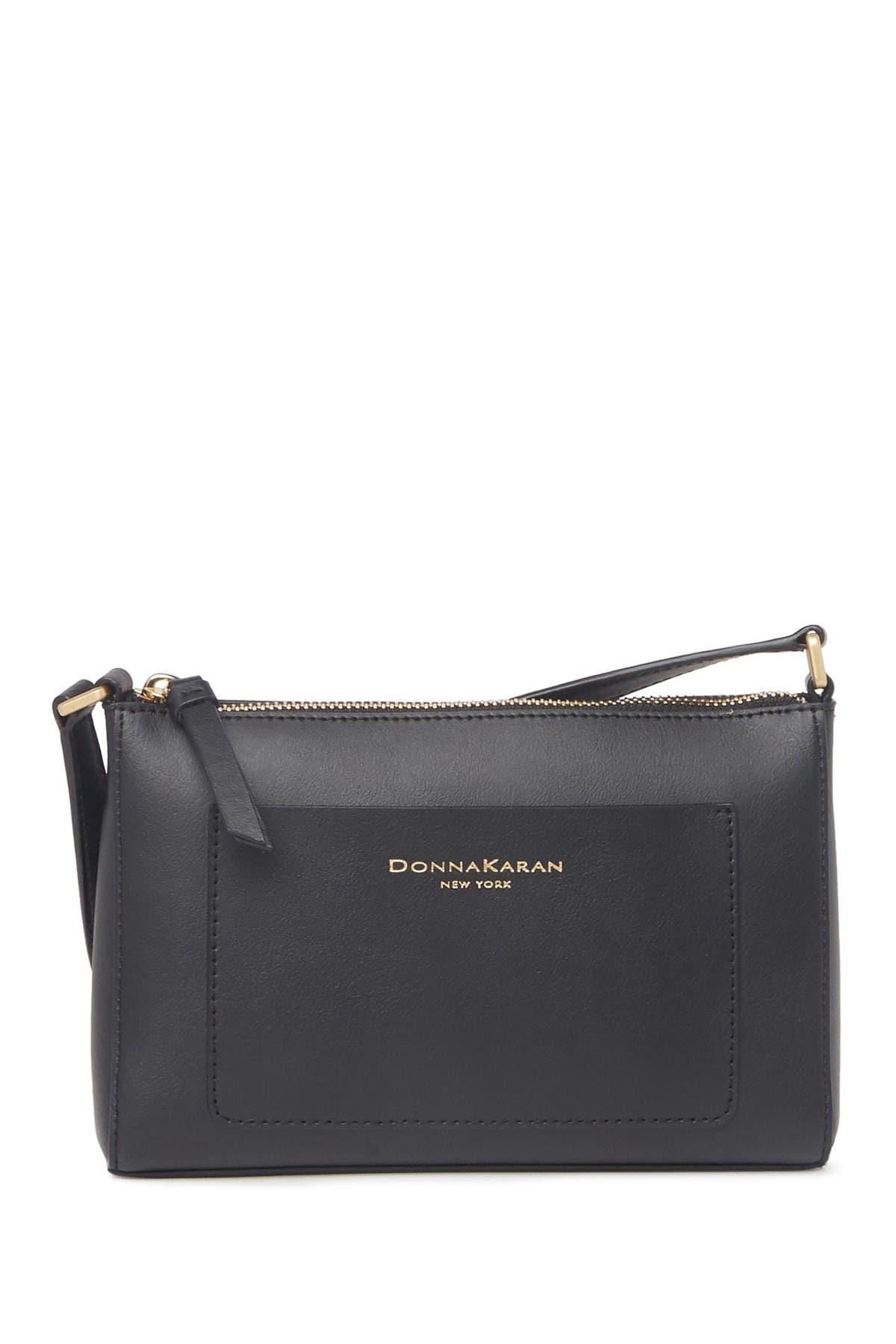 Image of Donna Karan Karla Small Leather Crossbody Bag