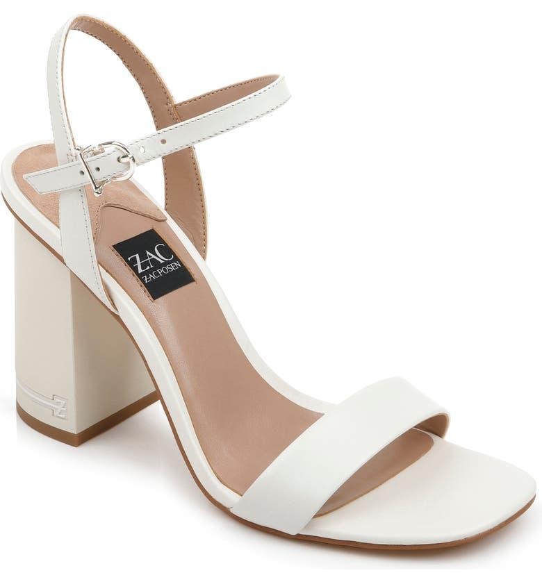 ZAC ZAC POSEN Vitex Block Heel Sandal, Main, color, CREAM LEATHER