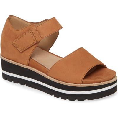 Eileen Fisher Luella Leather Platform Sandal, Brown