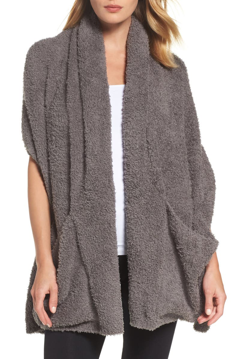 BAREFOOT DREAMS<SUP>®</SUP> CozyChic<sup>™</sup> Travel Shawl, Main, color, CHARCOAL