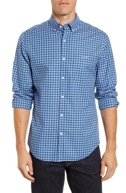 Vineyard Vines T-shirts RAGLAN TUCKER CLASSIC FIT CHECK BUTTON-DOWN SHIRT
