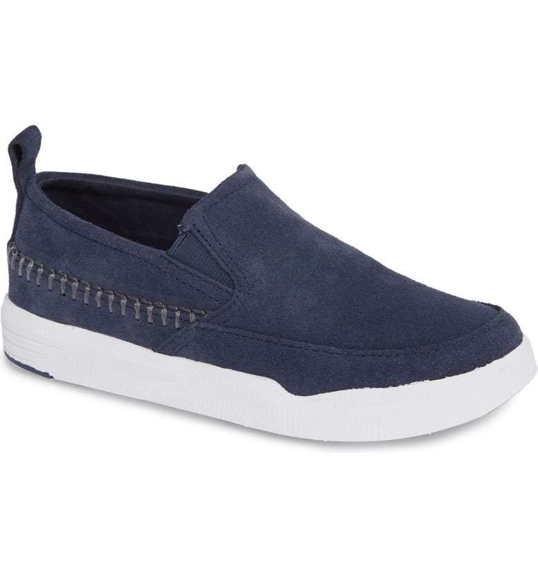 HUSH PUPPIES<SUP>®</SUP> Lazy Genius Sneaker, Main, color, NAVY