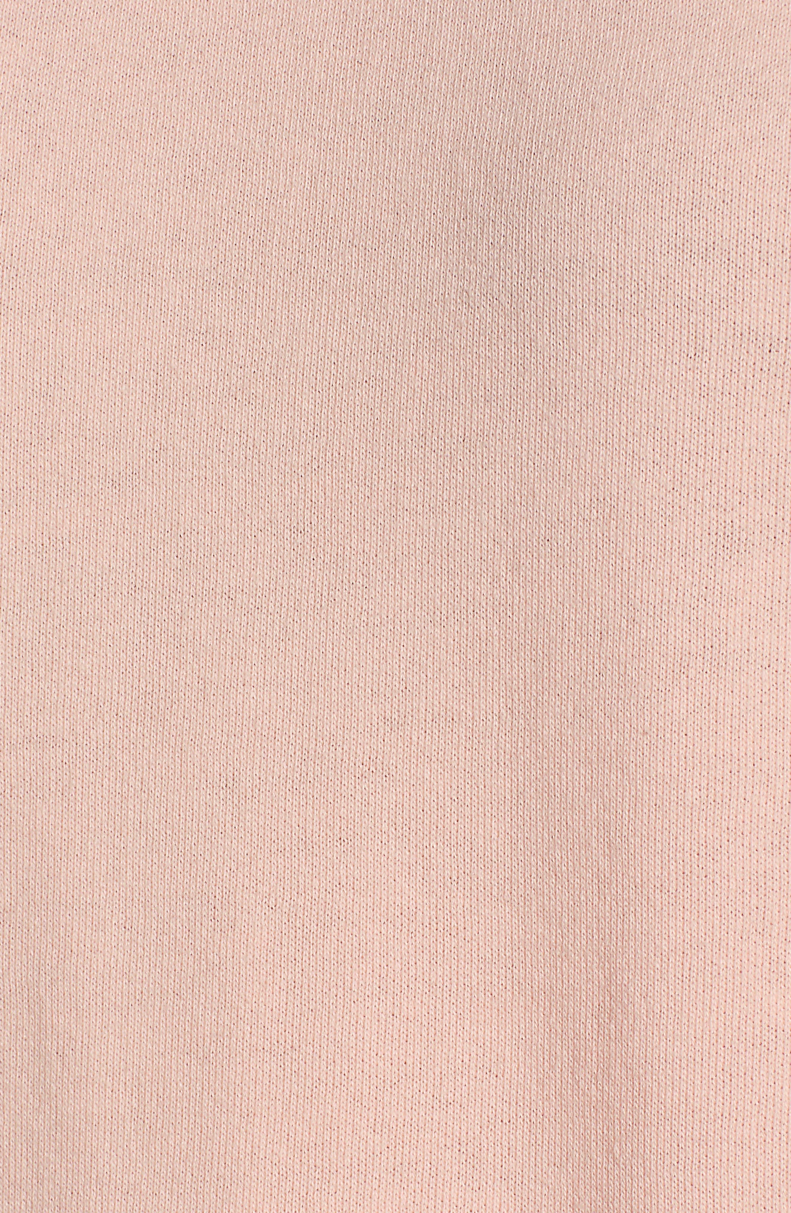 ,                             Eyelet Peplum Sweatshirt,                             Alternate thumbnail 5, color,                             PINK- WHITE