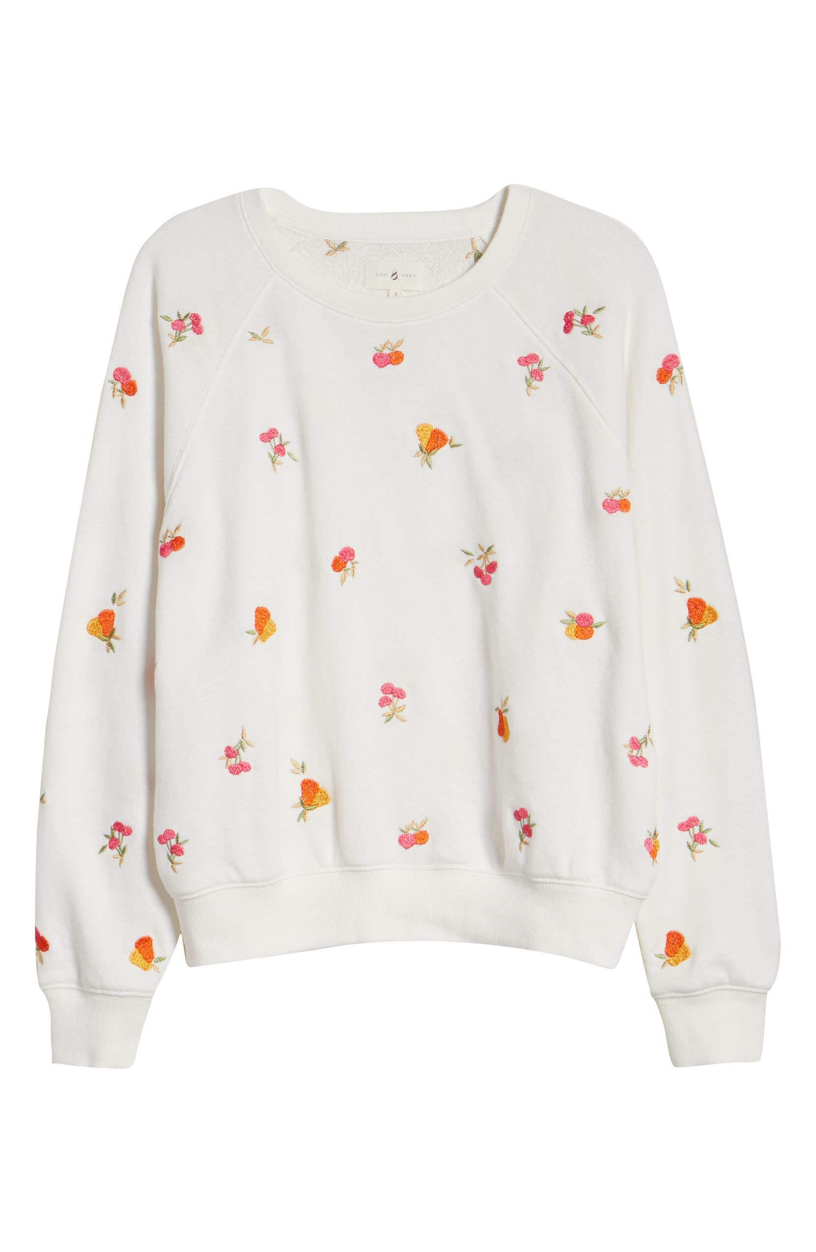 LOU & GREY Perry Terry Tropical Sweatshirt, Alternate, color, MOONLIGHT IVORY