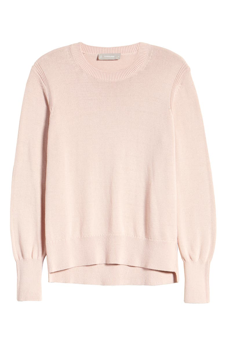EVERLANE The Soft Cotton Crew Sweater, Main, color, ROSE