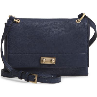 Sr Squared By Sondra Roberts Faux Leather Crossbody Bag - Blue