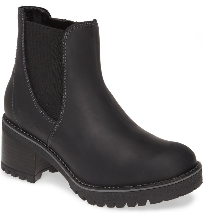 BOS. & CO. Mass Waterproof Boot, Main, color, BLACK LEATHER