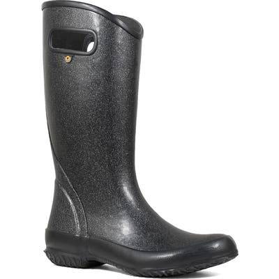 Bogs Glitter Waterproof Rain Boot, Black