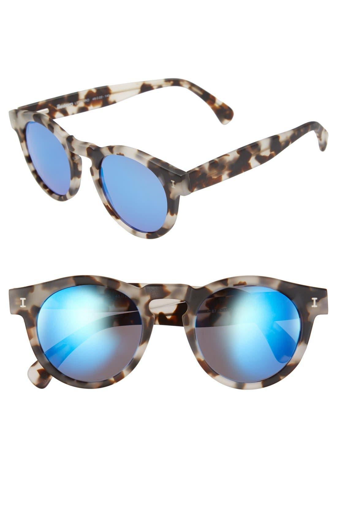 ,                             'Leonard' 47mm Sunglasses,                             Main thumbnail 55, color,                             111