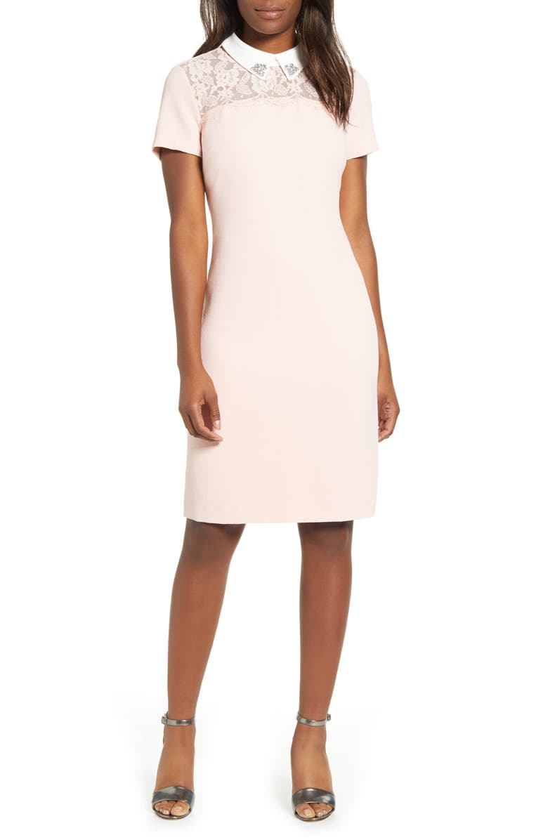 Embellished Collar Dress by Karl Lagerfeld Paris