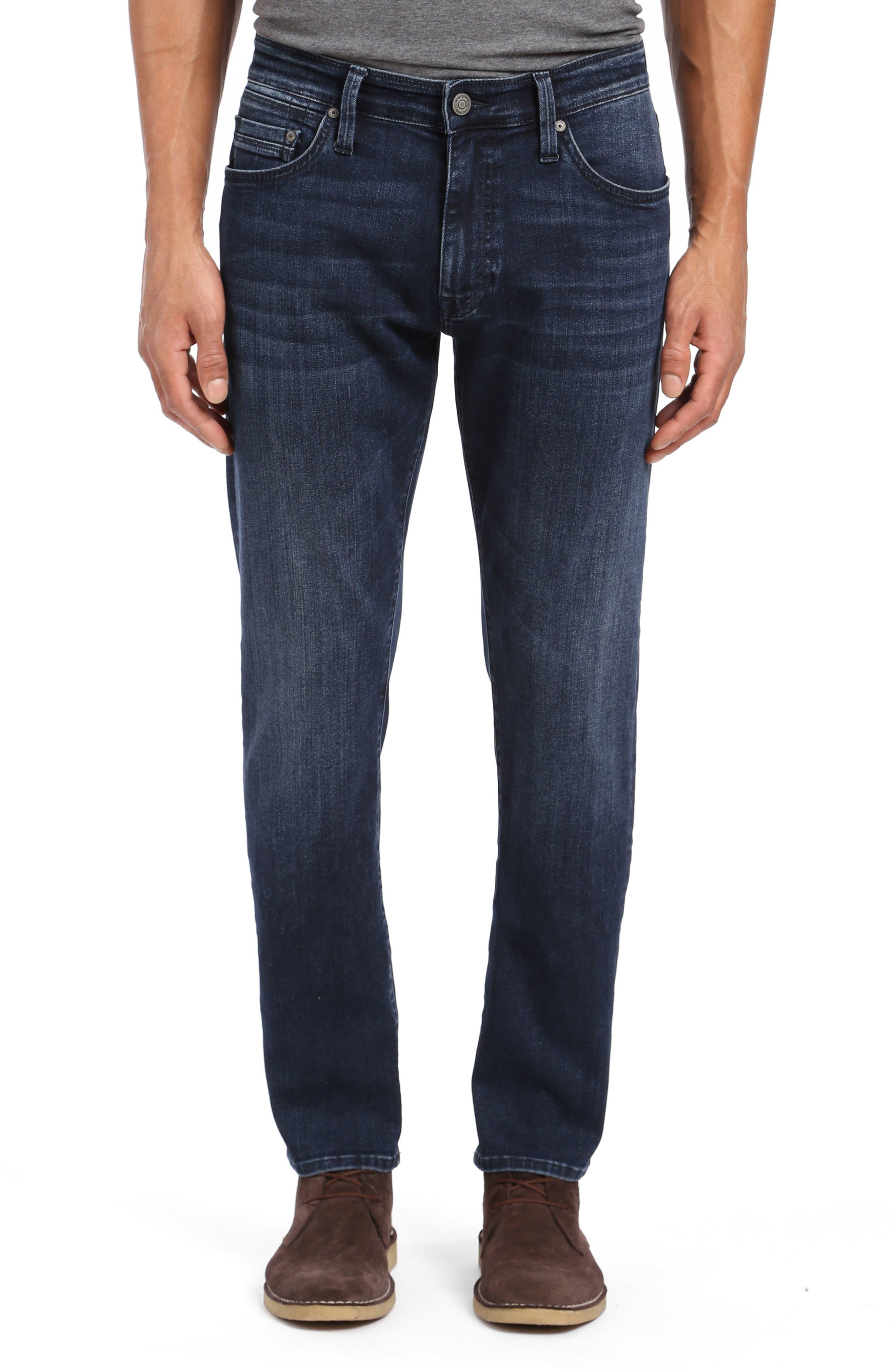 ,                             Marcus Slim Straight Leg Jeans,                             Main thumbnail 1, color,                             DARK SKY WILLIAMSBURG
