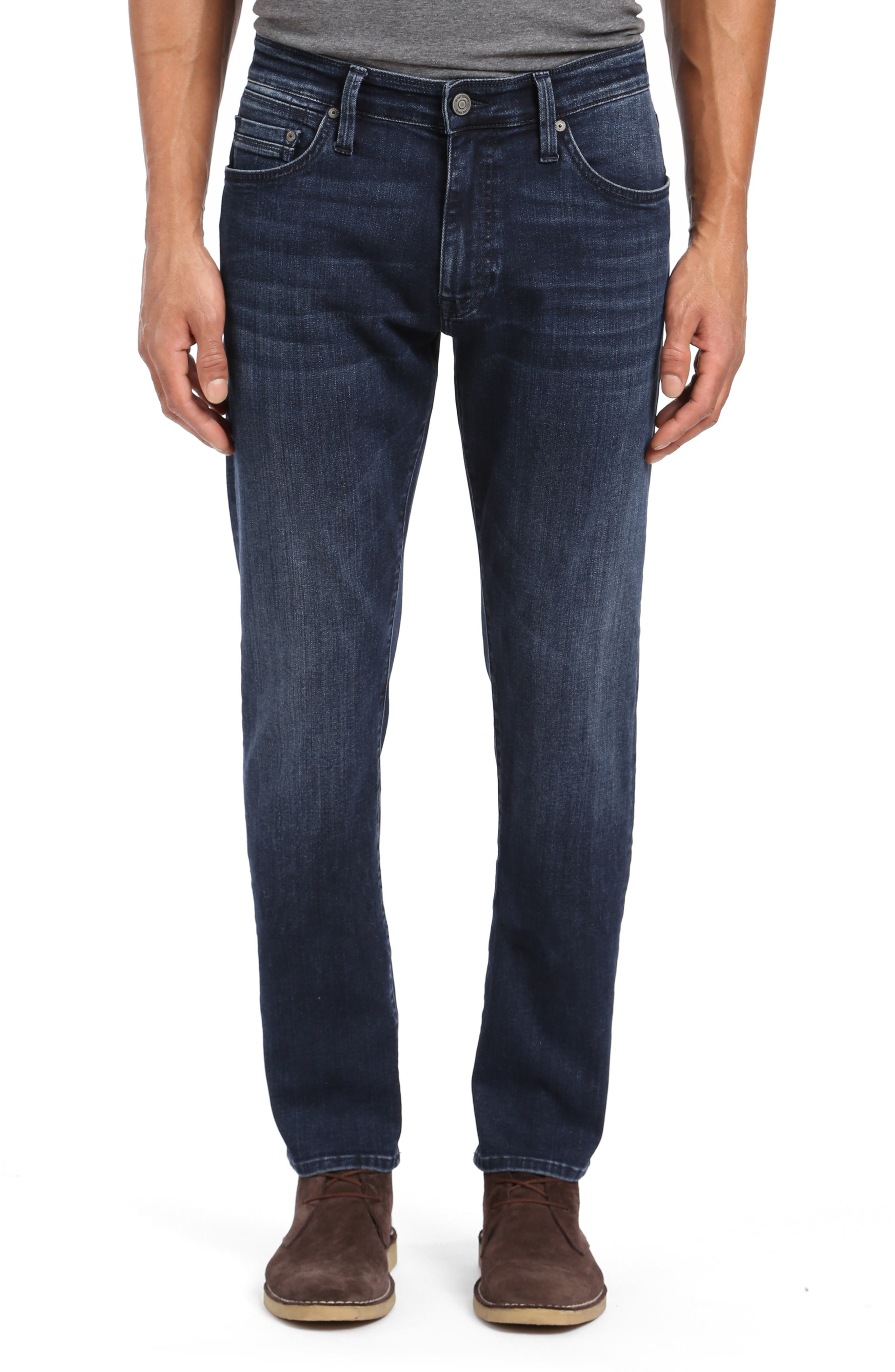 Marcus Slim Straight Leg Jeans, Main, color, DARK SKY WILLIAMSBURG