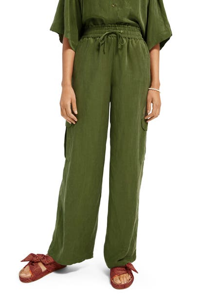 Scotch & Soda LINEN BLEND CARGO PANTS