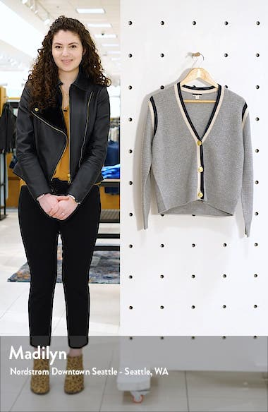 Cashmere Waffle Knit Cardigan Sweater, sales video thumbnail