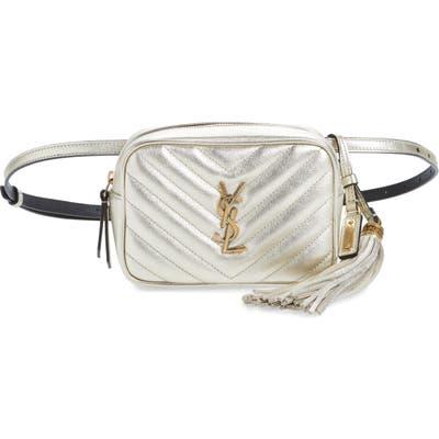 Saint Laurent Lou Lou Metallic Calfskin Leather Belt Bag With Tassel - Metallic