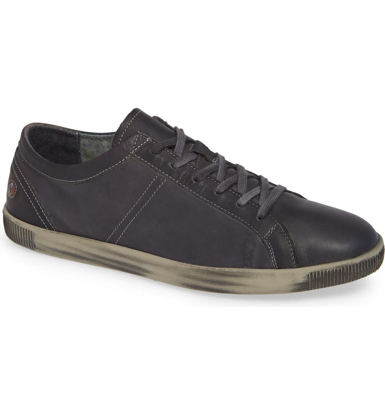 SOFTINOS BY FLY LONDON Tom Sneaker, Main, color, ANTHRACITE WASHED LEATHER