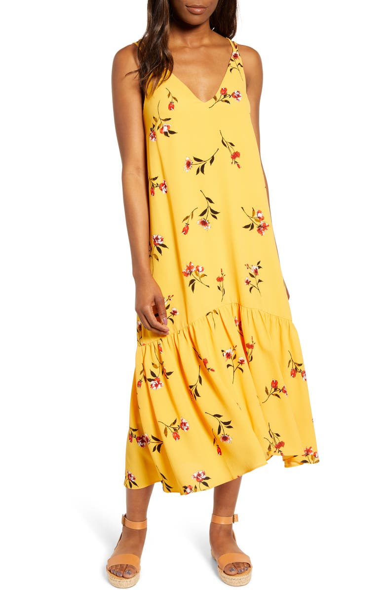 GIBSON x The Motherchic Summer Nights Maxi Dress, Main, color, GOLD FLORAL