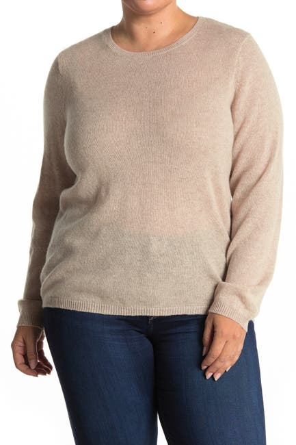 Image of Catherine Catherine Malandrino Cashmere Crew Neck Pullover Sweater